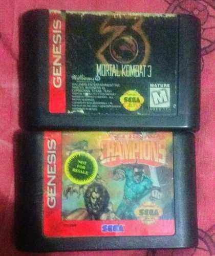Lgr Mortal Kombat 3 Y Eternal Champions Sega Genesis
