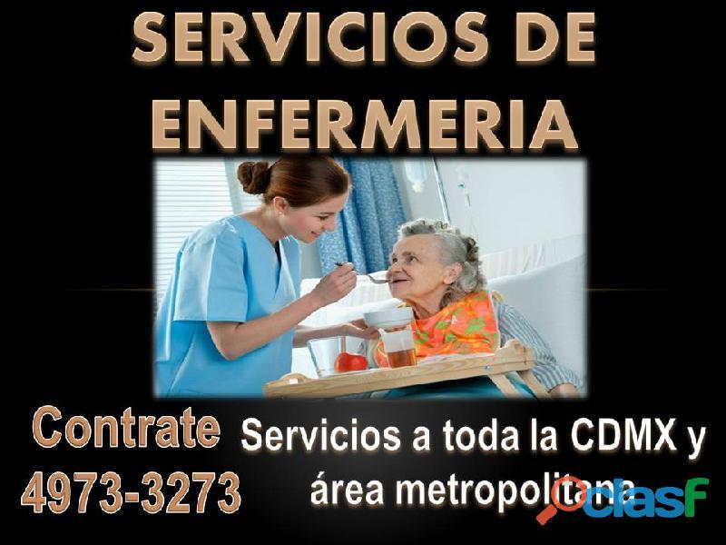Enfermeras y cuidadores a domicilio y en hospitales