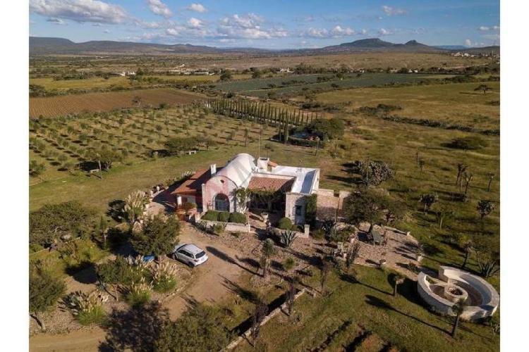 hermoso rancho con olivos y lavanda en Mineral de Pozos, Gto