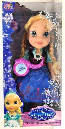 1 muñeca elsa vestido magico canta y habla frozen