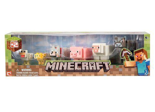 6 figuras de minecraf animales set de colección caja /maltr