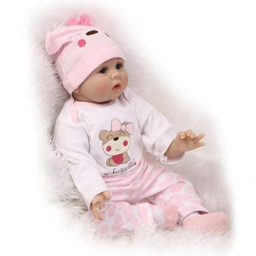 Auténtica bebe reborn 57 cm silicon tela osita f6e056c5a6c