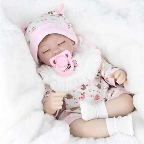 Baby reborn cuerpo de tela extremi vinil 42 cm muy realista