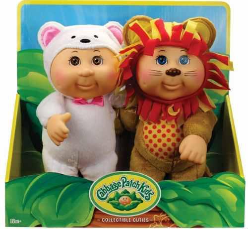 Set 2 muñecos cabbage patch kids lion & polar b envío