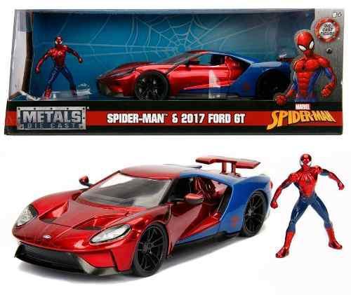 Spider man ford gt hombre araña jada 1:24 oferta spiderman