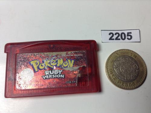 2205. pokemon ruby version ** gameboy adv pokechay