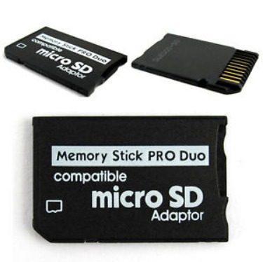 Adaptador de memorias micro sd a pro duo para psp cybershot