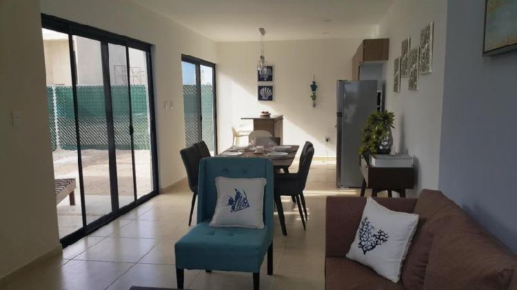 Casa con 3 recamaras y club de playa, chelem, yucatan