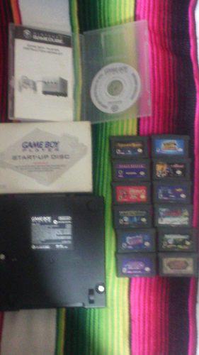 Game boy player(base, disco de arranque + 12 casetes de gba