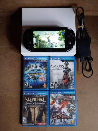 Ps vita slim 8gb + 4 juegos - riki's games