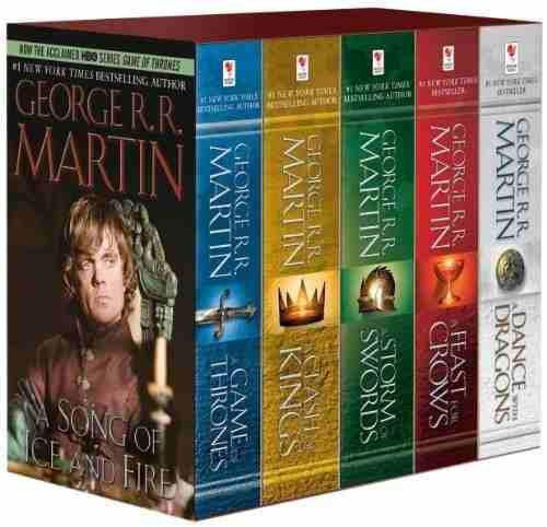 Libros game of thrones set 5 libros, envio dhl express