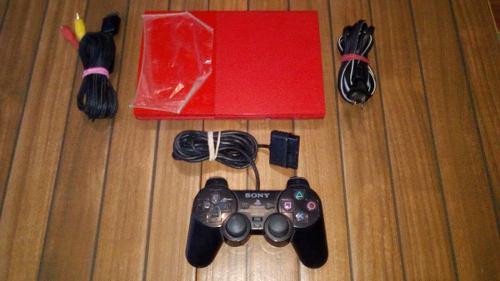 Playstation 2 slim edicion especial color rojo