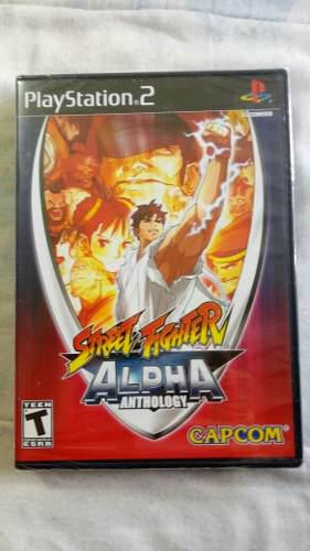 Street fighter alpha anthology nuevo, sellado ps2 $448