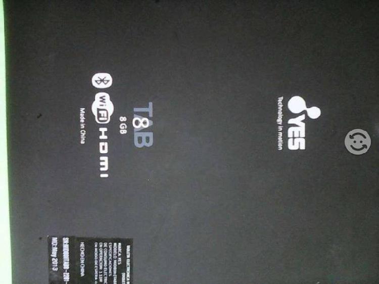 Tablet marca yes es para piezas