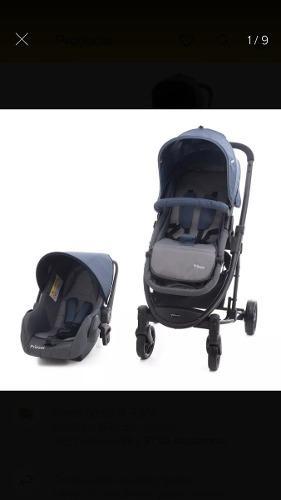 Carreola prinsel 4 en 1 con auto asiento para bebes.