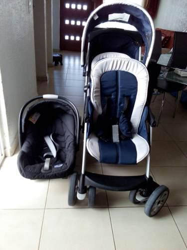 Carriola doble y porta bebé