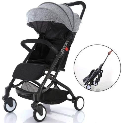 Carriola ligera plegable babyroues reclinable -negro
