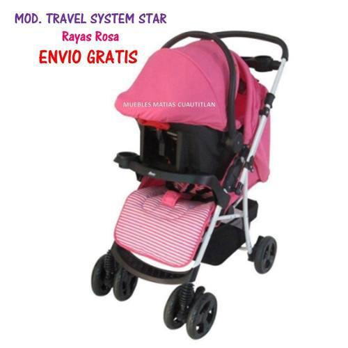 69738915a Carriola porta bebe travel system star rosa reversible niña en ...