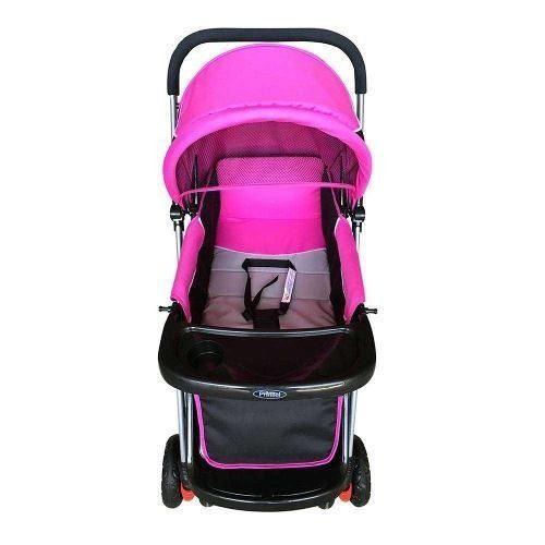 9983cb655 Carriola prinsel 2 en 1 camita cama bebe niña rosa viaje bb en ...