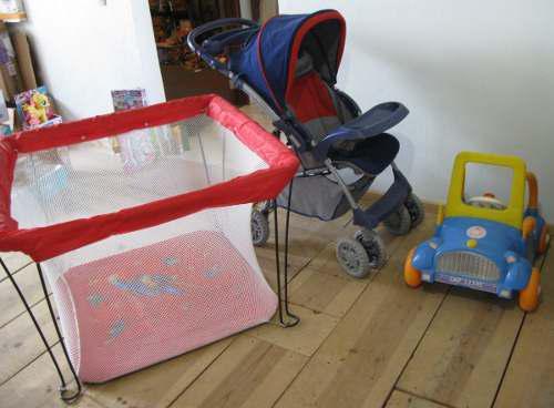 Lote bebe carreola, infanti, carro y corral