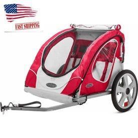 Remolque carreola bici bike para bebes, doble asiento