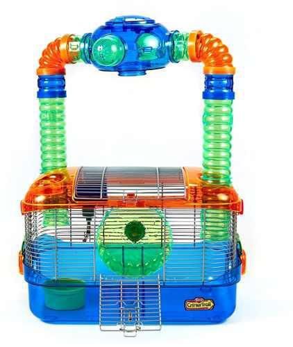 Jaula hamster de colores, con accesorios. leer despcripcion