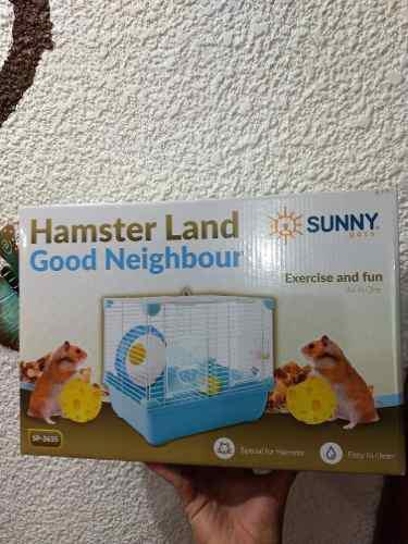 Jaula hamster marca sunny 33.5x23.7x35.5