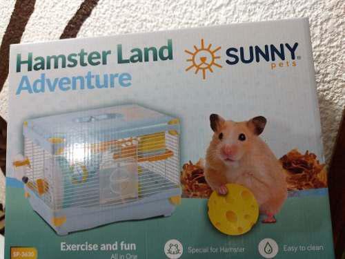 Jaula hamster marca sunny pets medidas 36x27x25envio gratis