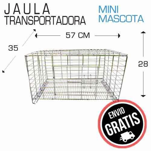 Jaula transportadora conejo hurón cuyo 57x35x28 conejera