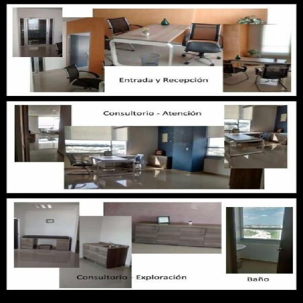 Consultorio en renta en edificio cenit amueblado y equipado