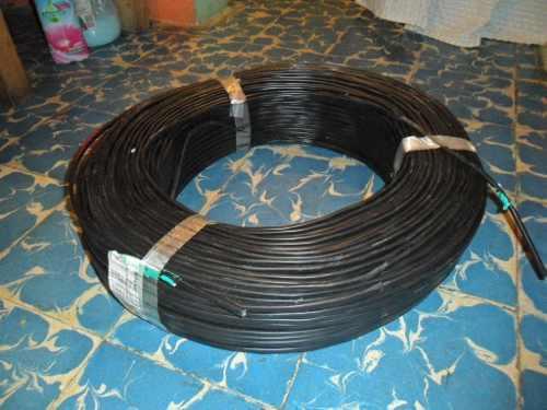 Cable telefonico p/exterior 2 hilos + 2 rosetas + 4 tensores