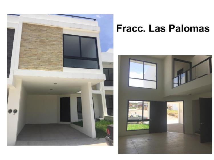 Fracc. las palomas, nueva con área verde atrás