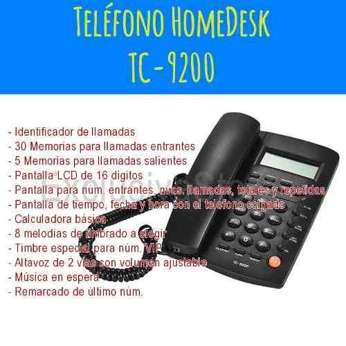 Telefono alambrico identificador de llamadas