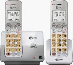 Telefono inalambrico at&t numero grande, altavoz