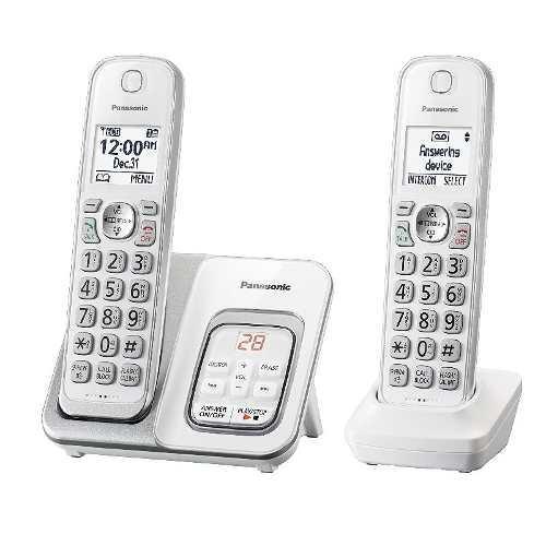 Telefono inalambrico doble panasonic tgd532w dect 6 bloqueo