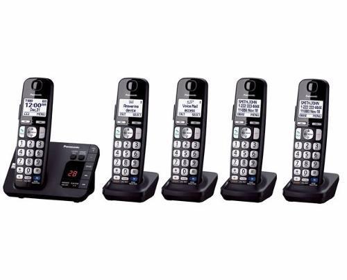 Telefono inalambrico panasonic quintuple dect 6.0 tge235