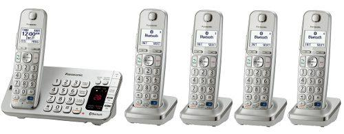 Telefono inalambrico panasonic quintuple dect 6.0 tge275 id