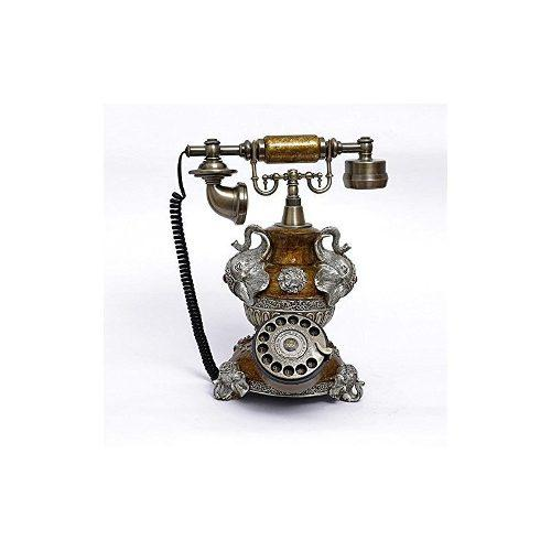 Teléfono antiguo de la oficina en casa teléfono pasado de