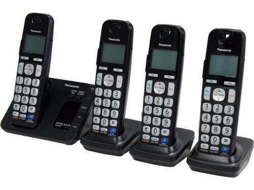 Teléfono inalámbrico panasonic kx tg234 4 auriculares dect