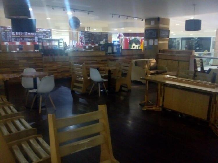 Traspaso negocio cafetería y creperia en plaza comercial
