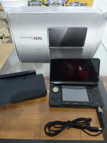 Nintendo 3ds negro cosmo black con 20 juegos ultra luna y +
