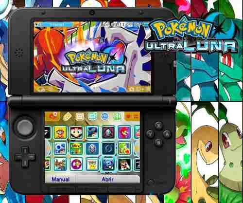 Nintendo 3ds xl rojo + 32 juegos 32gb pokemon