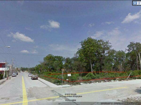 Terreno urbano en esquina ubicado en el centro de tulum