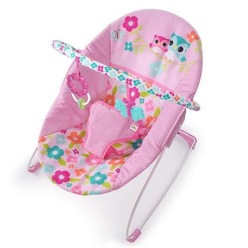 Bouncer mecedor bebe bright starts vibradora buhos rosa