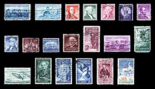 Estampillas: estados unidos 1952 a 1957