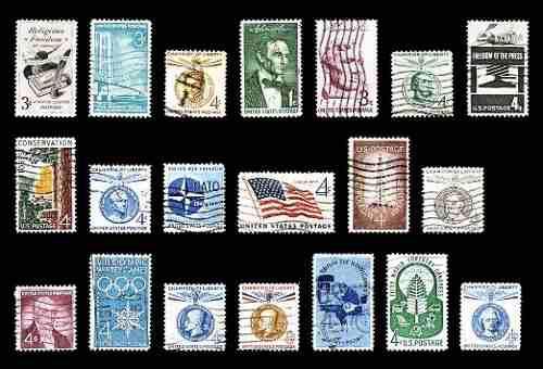 Estampillas: estados unidos 1957 a 1960