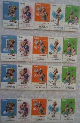 Estampillas postales de memin pinguin 2005