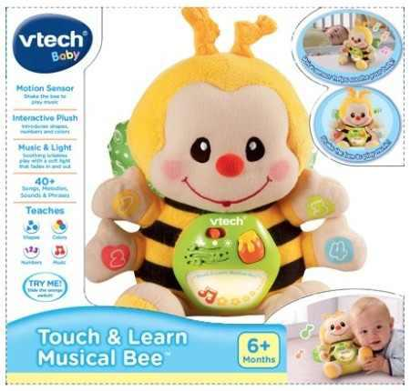 Juguete para bebe touch & learn abeja musical xtreme p