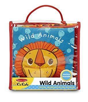 Libro de tela para bebés melissa & doug. animales.