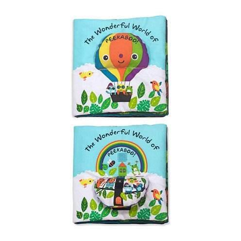 Libro de tela para bebés melissa & doug. peekaboo!